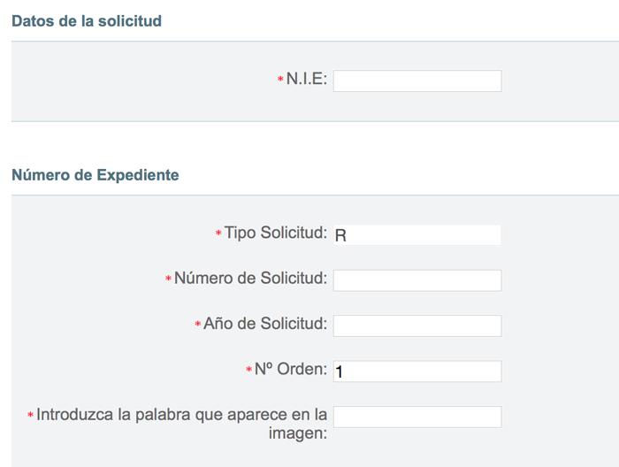Consulta de expedientes de Nacionalidad Española