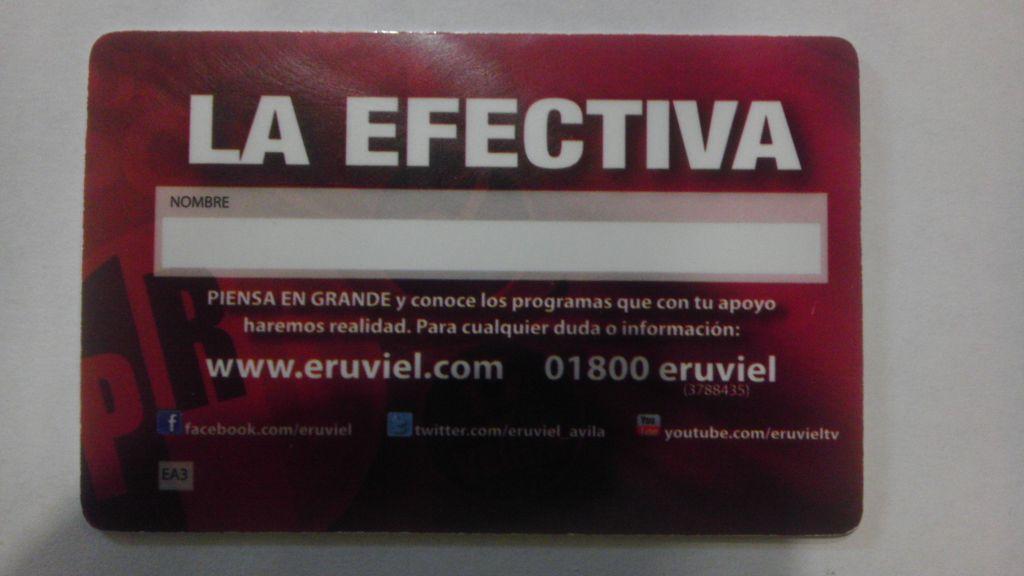 tarjeta efectiva eruviel