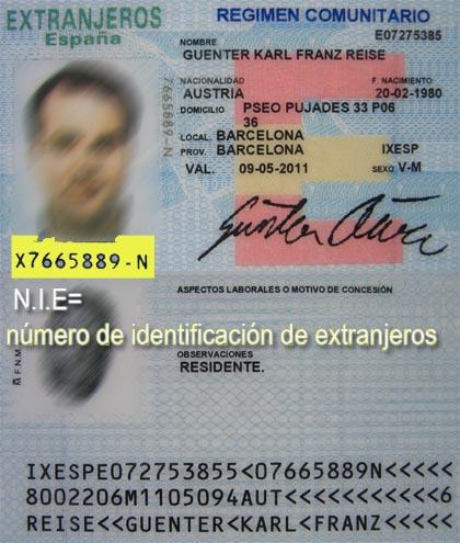 N mero de identificaci n nie for Oficina de extranjeros madrid