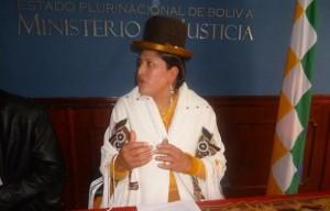 Ministra de Justicia de Bolivia