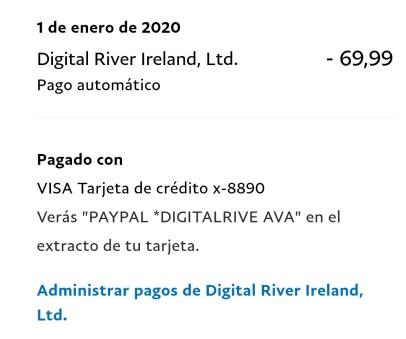 cargo digital river ireland paypal