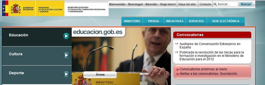 Nuevo sitio web del ministerio de for Pagina web del ministerio