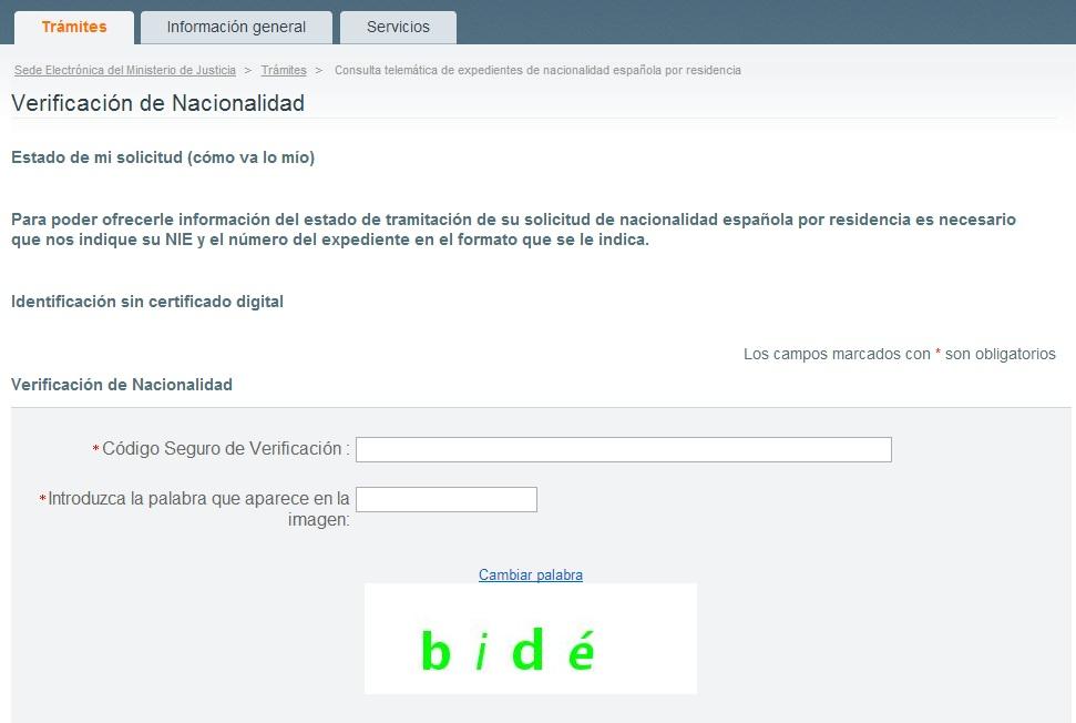 Verificacion Nacionalidad www.justicia.es